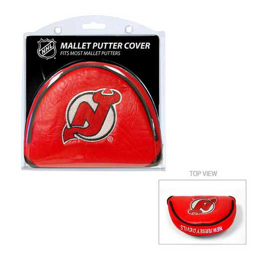 14631: Golf Mallet Putter Cover New Jersey Devils